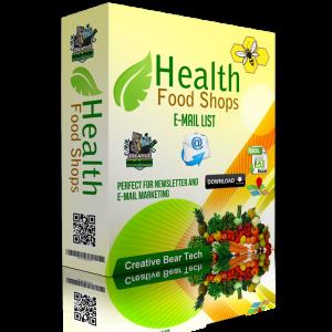 Health Food Shops Email List